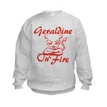 Geraldine On Fire Kids Sweatshirt