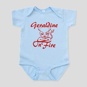 Geraldine On Fire Infant Bodysuit