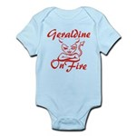 Geraldine On Fire Infant Bodysuit