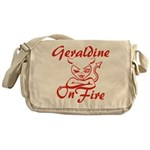 Geraldine On Fire Messenger Bag
