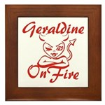 Geraldine On Fire Framed Tile