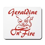 Geraldine On Fire Mousepad