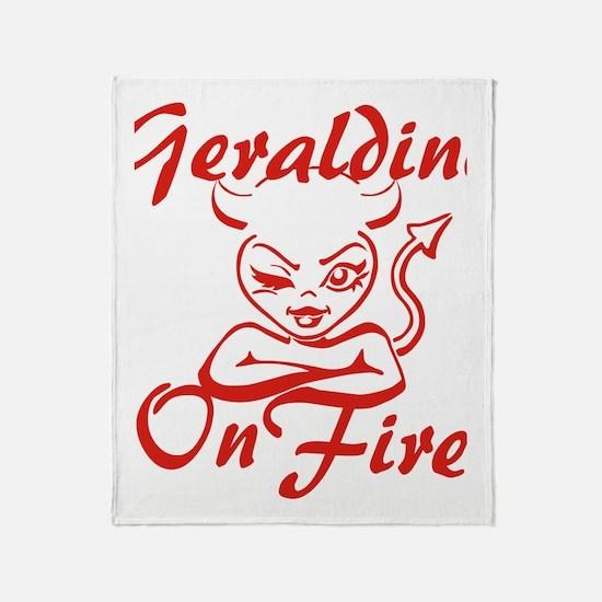 Geraldine On Fire Throw Blanket