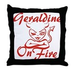 Geraldine On Fire Throw Pillow