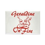 Geraldine On Fire Rectangle Magnet