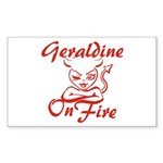 Geraldine On Fire Sticker (Rectangle)
