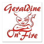 Geraldine On Fire Square Car Magnet 3