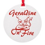 Geraldine On Fire Round Ornament