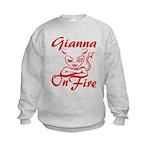 Gianna On Fire Kids Sweatshirt