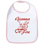 Gianna On Fire Bib
