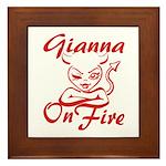 Gianna On Fire Framed Tile