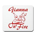 Gianna On Fire Mousepad