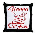 Gianna On Fire Throw Pillow