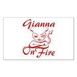 Gianna On Fire Sticker (Rectangle)