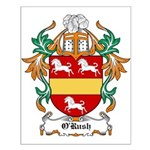 O'Rush Coat of Arms Small Poster