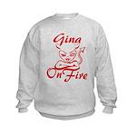 Gina On Fire Kids Sweatshirt