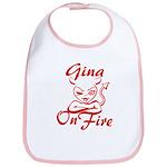 Gina On Fire Bib