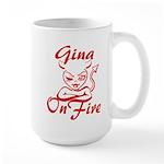 Gina On Fire Large Mug
