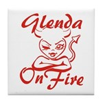 Glenda On Fire Tile Coaster