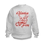 Gloria On Fire Kids Sweatshirt