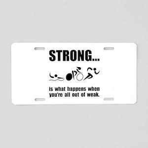 Triathlon Strong Aluminum License Plate