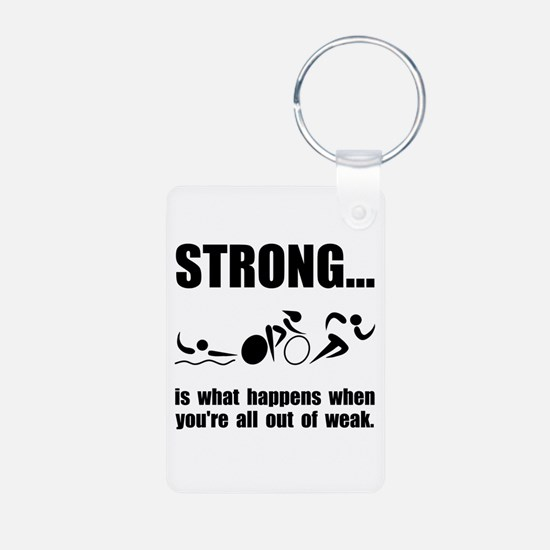 Triathlon Strong Keychains