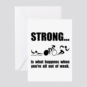 Triathlon Strong Greeting Card