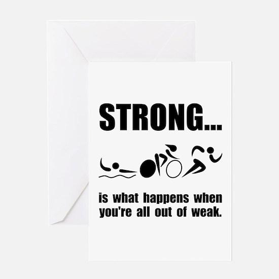 Triathlon Strong Greeting Card