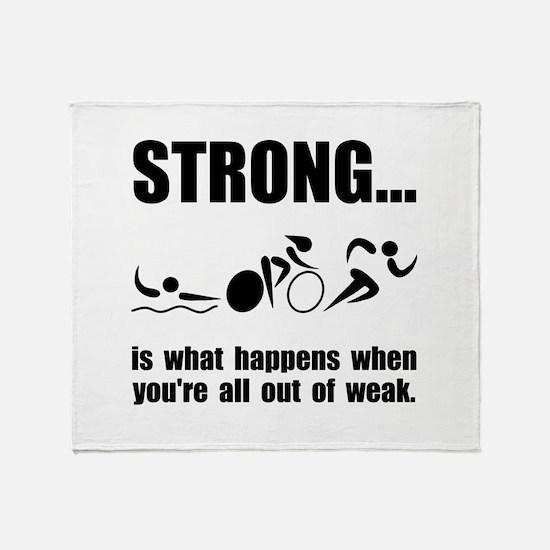 Triathlon Strong Throw Blanket