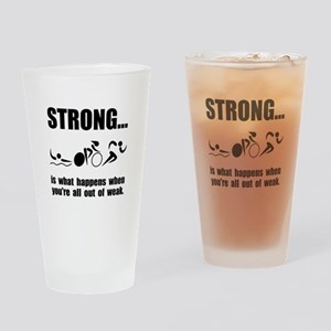 Triathlon Strong Drinking Glass
