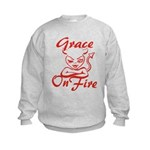 Grace On Fire Kids Sweatshirt
