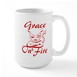 Grace On Fire Large Mug