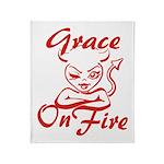 Grace On Fire Throw Blanket