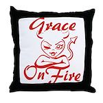 Grace On Fire Throw Pillow