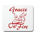 Gracie On Fire Mousepad