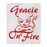 Gracie On Fire Throw Blanket