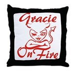 Gracie On Fire Throw Pillow