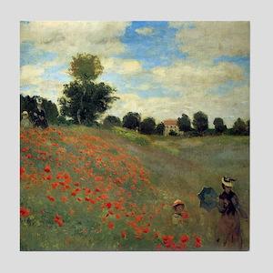 Monet Wild Poppies (detail) Tile Coaster