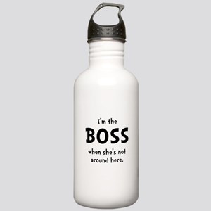 Im The Boss Shes Not Around Stainless Water Bottle