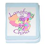 Langfang China Map baby blanket