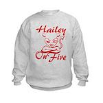 Hailey On Fire Kids Sweatshirt
