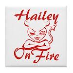 Hailey On Fire Tile Coaster