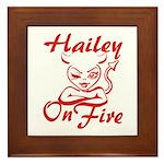 Hailey On Fire Framed Tile
