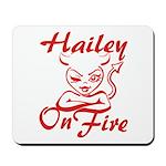 Hailey On Fire Mousepad