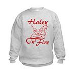 Haley On Fire Kids Sweatshirt