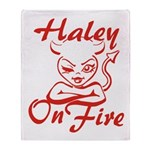 Haley On Fire Throw Blanket