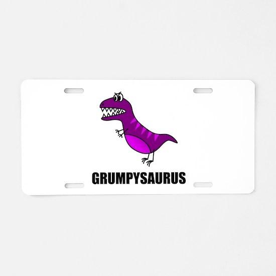 Grumpysaurus Aluminum License Plate