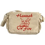 Hannah On Fire Messenger Bag