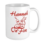 Hannah On Fire Large Mug