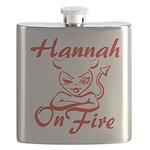Hannah On Fire Flask
